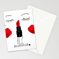 Red Lipstick Club Stationery Cards