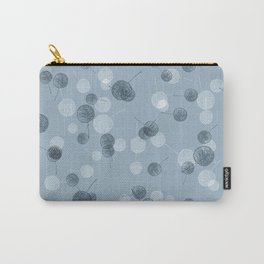 Smal blue leaves Carry-All Pouch