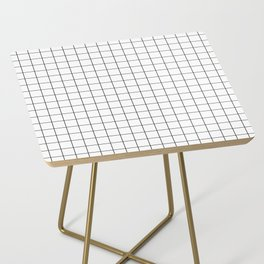 Black and White Thin Grid Graph Side Table