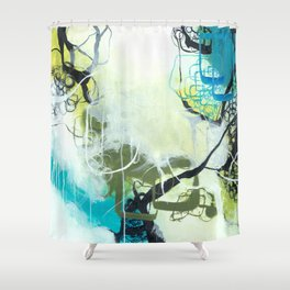 Everglades - Square Abstract Expressionism Shower Curtain