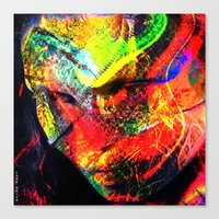 graffiti Canvas Prints featuring Graffiti !! by shiva camille