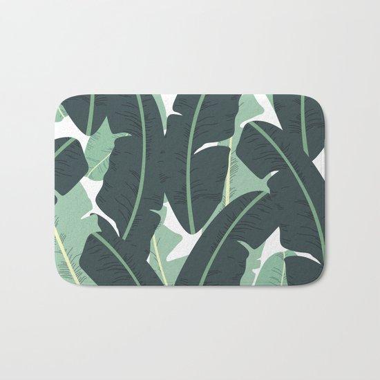 Banana Leaf Pattern #society6 #decor #buyart Bath Mat