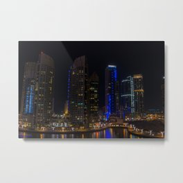 Dubai Marina waterways Metal Print