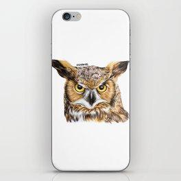 Owl - Realistic Drawing iPhone Skin