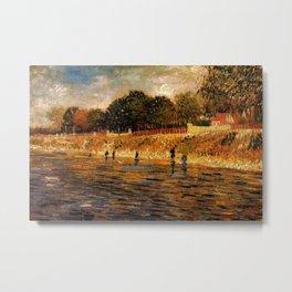 Banks of the River Seine, Paris by Vincent van Gogh Metal Print