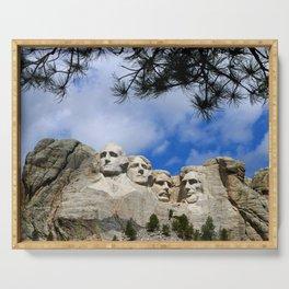 Mount Rushmore Serving Tray