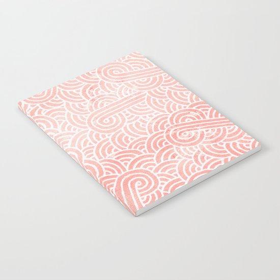 Rose quartz and white swirls doodles Notebook
