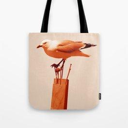 Monochrome - Seagull Tote Bag
