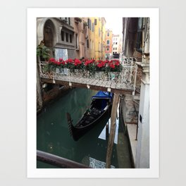 The Flowers of Venice Art Print
