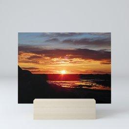 Ground Level Sunset Mini Art Print