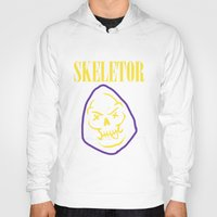skeletor Hoodies featuring Skeletor Band by Shine Out