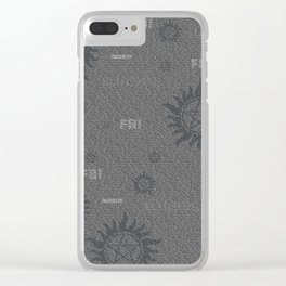 Dean and Sam Aliases Clear iPhone Case