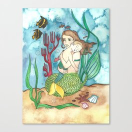 Mer-child & Mer-mother Canvas Print