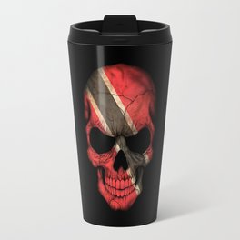 Dark Skull with Flag of Trinidad and Tobago Travel Mug