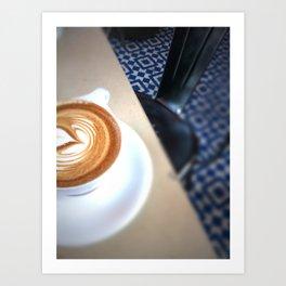 Blue Caffeine  Art Print