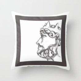 Bust of a King Throw Pillow