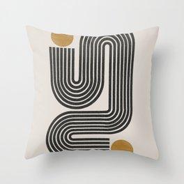 Mid Century Modern Line Throw Pillow