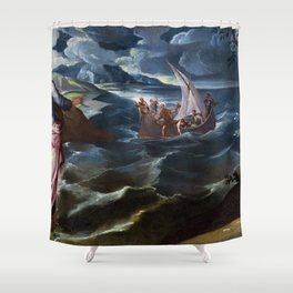 "Tintoretto (Jacopo Robusti) ""Christ at the Sea of Galilee"" Shower Curtain"
