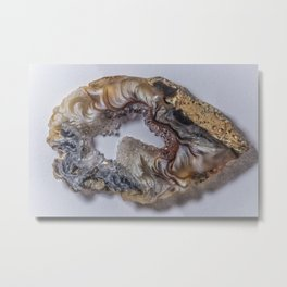 Marbled crystal geode Metal Print