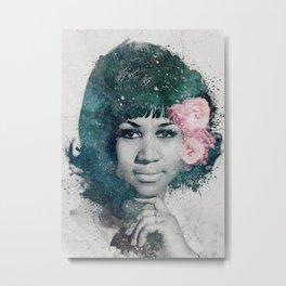 Aretha Franklin. Soul queen Metal Print