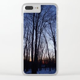 Cloudless Winter Sunset Clear iPhone Case