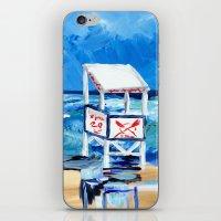Ocean City Lifeguard Stand iPhone & iPod Skin