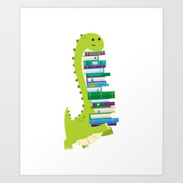 The Geek Brachiosaurus Art Print