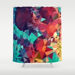 Abstract Rainbow Gem Shower Curtain