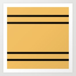 Hufflepuff Stripes Art Print