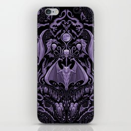 Bats and Beasts - ROYAL PURPLE iPhone Skin