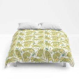 CHEETAHS white Comforters