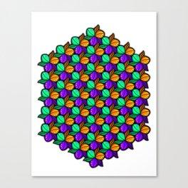 Vibrant Floral Tricolora Canvas Print