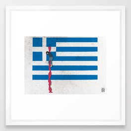 The Grexit scenario Framed Art Print