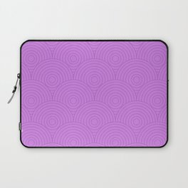 Circles Pattern - Light Purple Laptop Sleeve