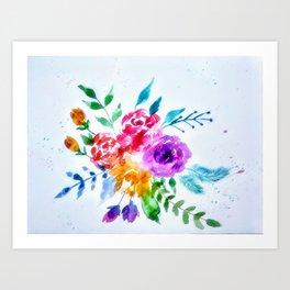 Loose florals Art Print
