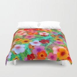Colorful Hibiscus Duvet Cover