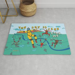Skydive in the sky Rug