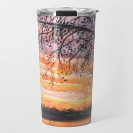 Sunset at Waggon Train Lake Travel Mug