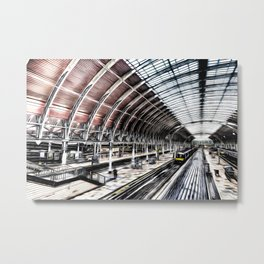 Paddington Station Art Metal Print