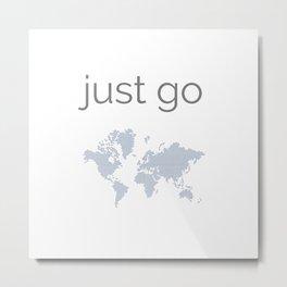 just go - elegant world map design Metal Print