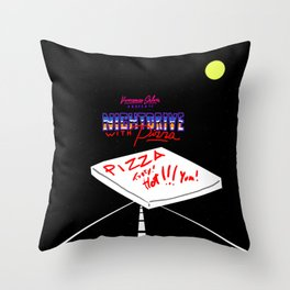 Nightdrive with Pizza Throw Pillow