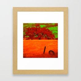 Sci-Fi Alien Countryside Framed Art Print