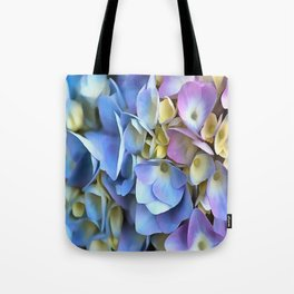 Blue and Pink Hydrangea Flowers  Tote Bag