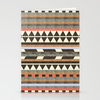 chris brown Stationery Cards featuring DG Aztec No.1 by Dawn Gardner