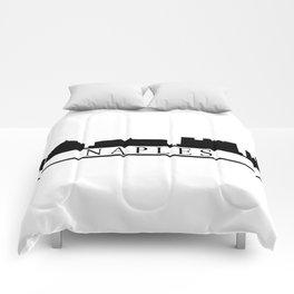 Naples skyline Comforters