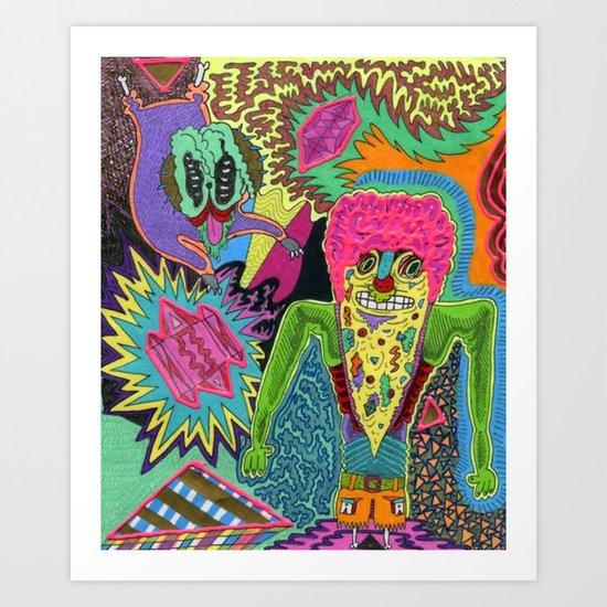Pizza Brainz Art Print