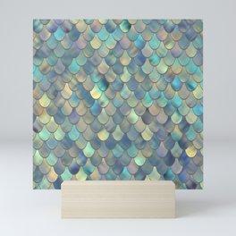 Mermaid Sea Shell Iridescent Mini Art Print
