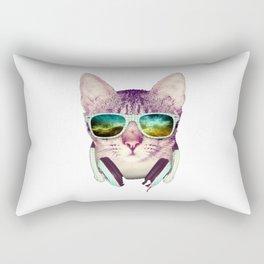 Hipster Cat Rectangular Pillow