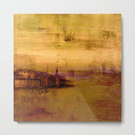 golden abstract landscape Metal Print