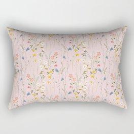 Dreamy Floral Pattern Rectangular Pillow